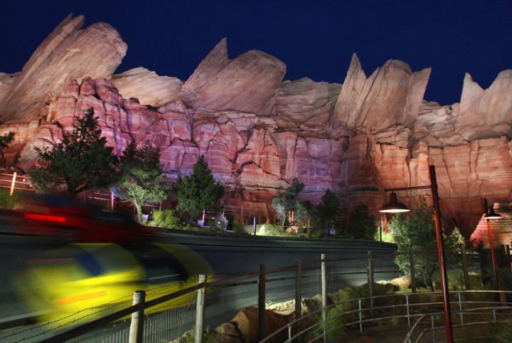 Cars Land Disney California Adventure At Night Radiator Springs Racers