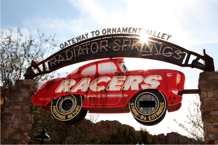 Radiator Springs Racers Neon Sign
