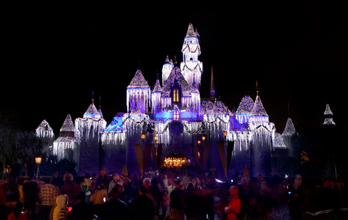 Sleeping Beauty Winter Castle At Night