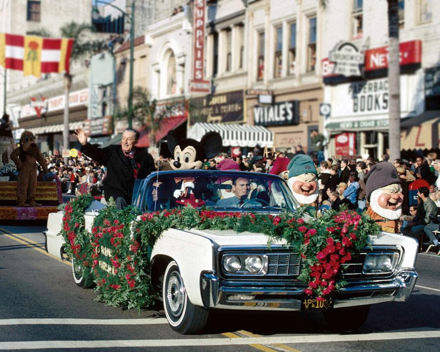 1966 - Walt Disney serving as grand marshall