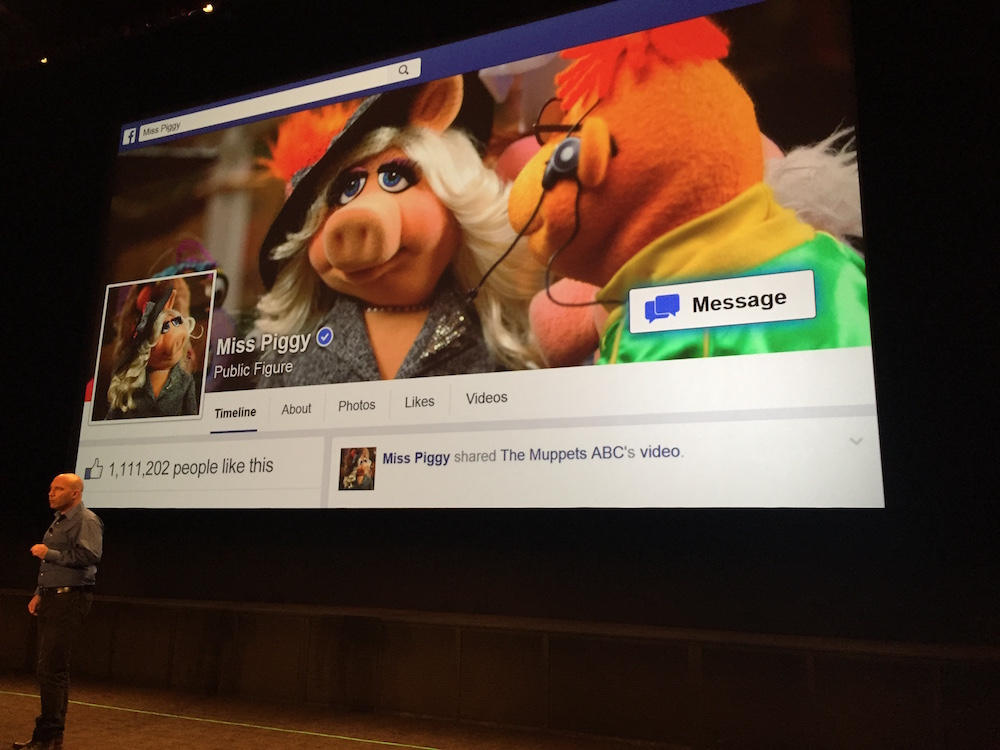 Imperson tech with Miss Piggy