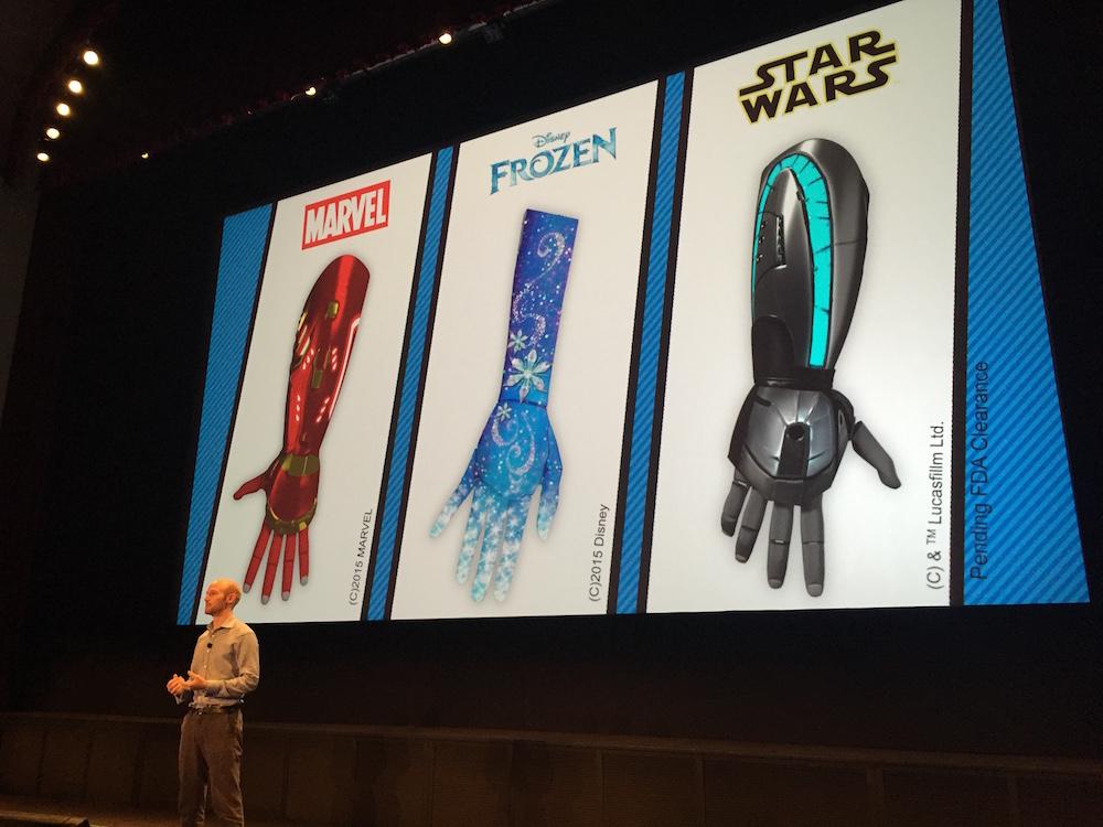 Open Bionics featuring Disney-themed artificial limbs